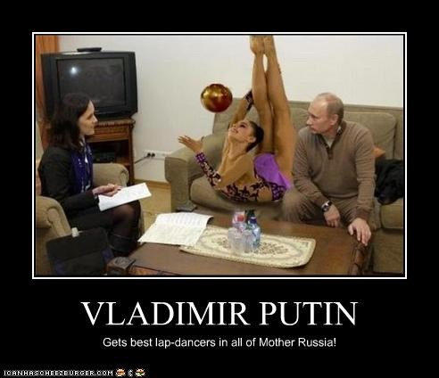 VLADIMIR PUTIN Gets best lap-dancers in all of Mother Russia!