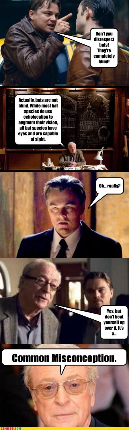 awesome,communication,Inception,Leonarod Dicaprio,michael caine,puns,science