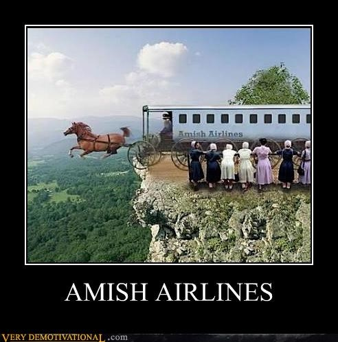 amish,airlines,buggy,bad idea