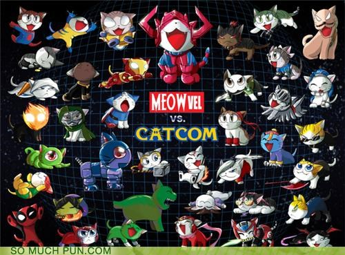 capcom cat Cats Fan Art marvel marvel vs capcom meow strider - 4542355712