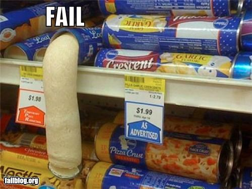 dough eww failboat food grocery store innuendo limp biscuits packaging phallic - 4542397440