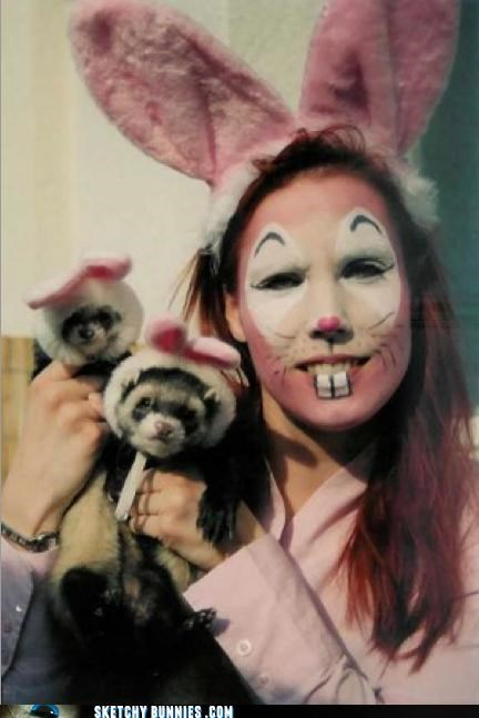 animals face painted so weird weasels - 4542500608