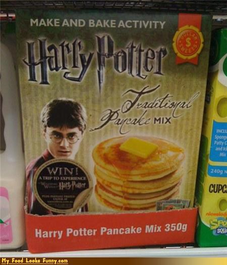 Harry Potter mix pancakes tradtional