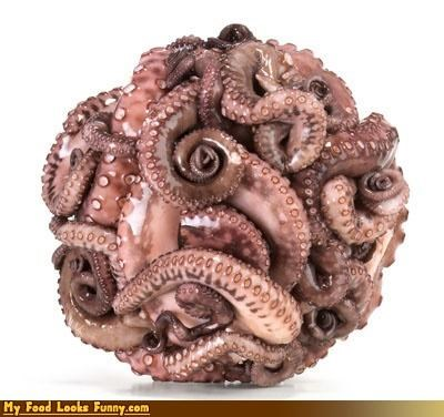 ball octopus purple salad tentacles - 4542543872