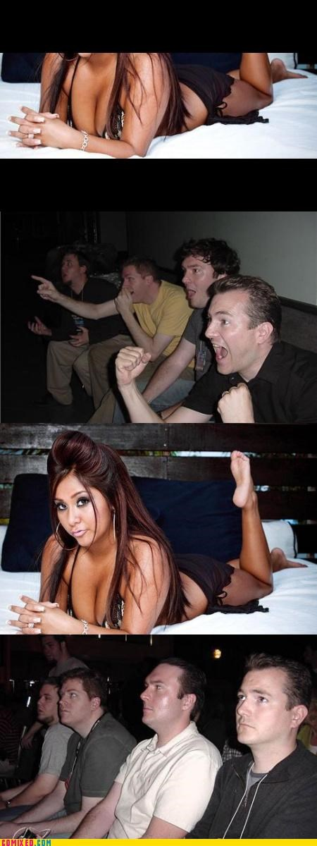 babes celebutard confused reaction guys snooki - 4542845184