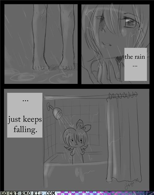manga,rain,shower,silly