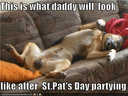 after german shepherd imitating impression Party partying passed out resemblance saint-patricks-day upside down - 4542964224