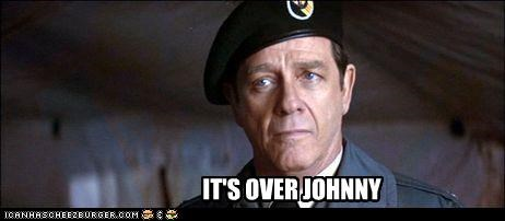 Image result for it's over johnny