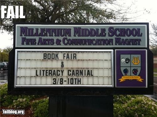 failboat,g rated,literacy,marquee,school,signs,spelling
