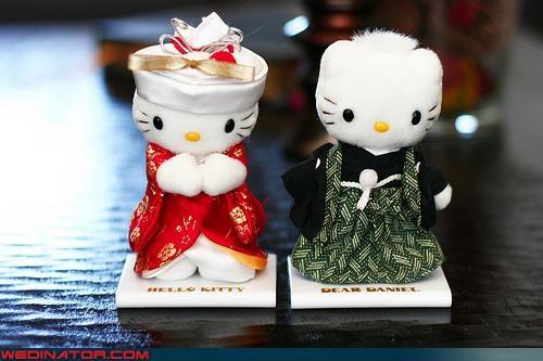 funny wedding photos hello kitty Japan kimono traditional - 4543242240