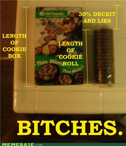 box of lies girl scout cookies girl scouts - 4543262720
