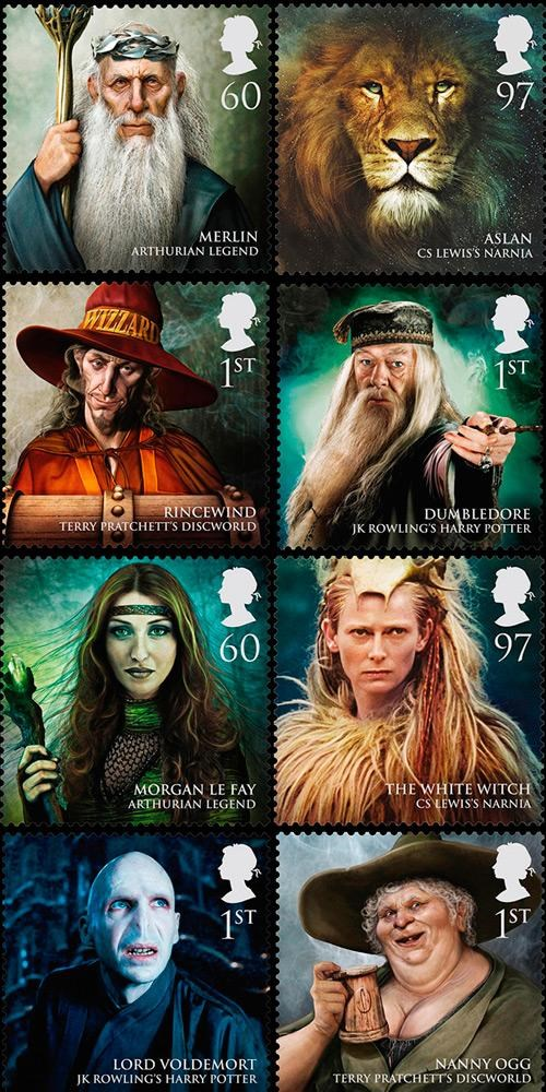 Enchanters stamps Witches wizards - 4543526912