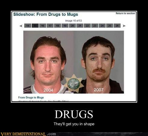 drugs in shape mug shot