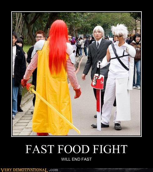 FAST FOOD FIGHT WILL END FAST