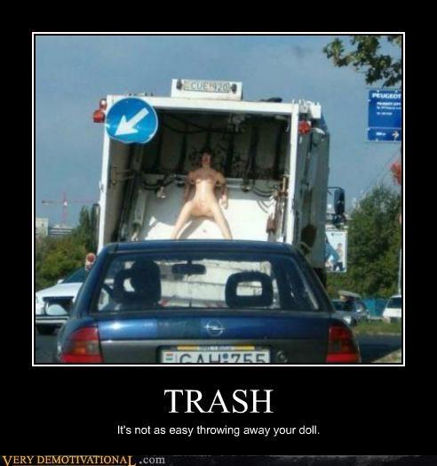 sex doll trash truck wtf - 4543670016
