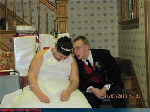 bride,drunk,drunk bride,funny wedding photos