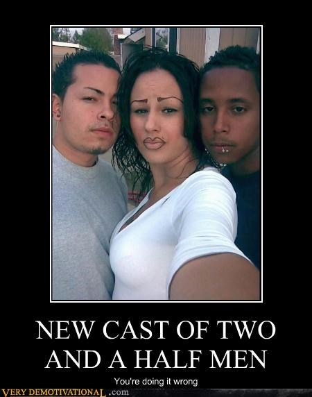 NEW CAST OF TWO AND A HALF MEN You're doing it wrong