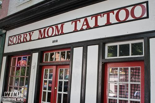 awesome at work,store name,storefront,tattoo