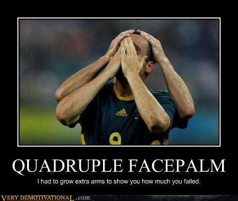 4 hands arms facepalm soccer sports wtf - 4544141312