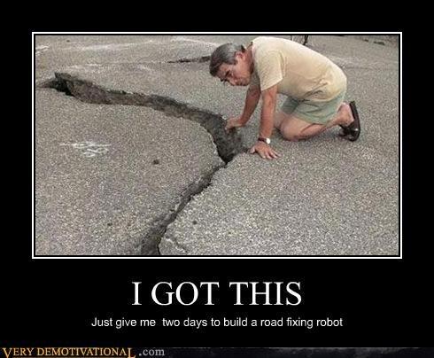 earthquake Japan road robot - 4544163328