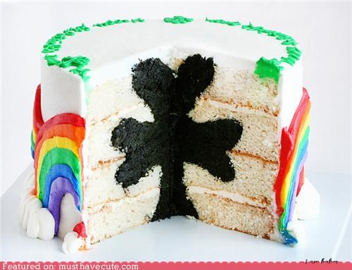 cake,epicute,rainbows,shamrock,St Patrick's Day,surprise