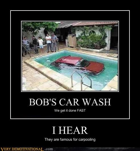 bad idea,car,pool,wash