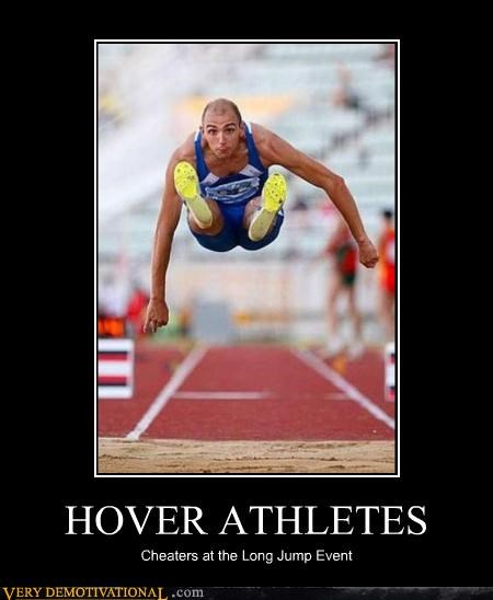 athletes hover long jump sports