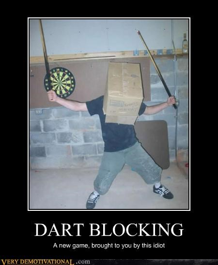 box,pool sticks dart blocking