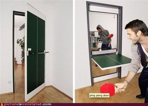 awesome,door,modern living,ping pong table,sports,wtf