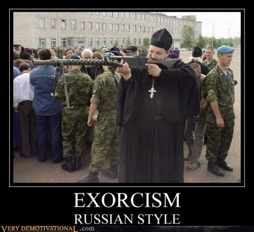 exorcism gun priest russian wtf - 4545009152