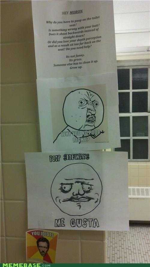 bathroom me gusta passive agressive poop sideways - 4545101824