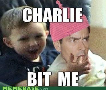 bit my finger,charlie bit me,Charlie Sheen