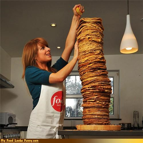 girl pancakes stack tall - 4545210624