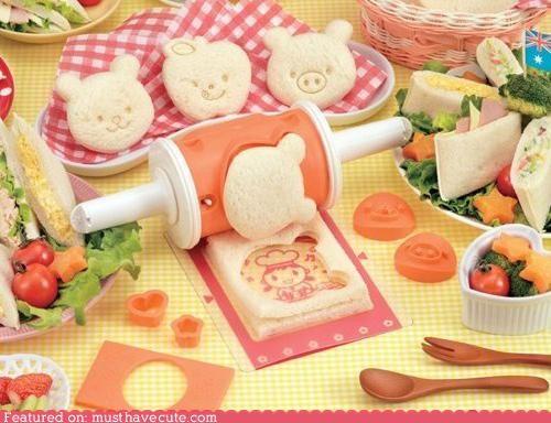 bento cut decor face lunch sandwich snack - 4545395456