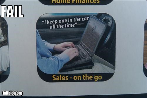 Ad driving failboat g rated in the car laptops safety - 4545400832