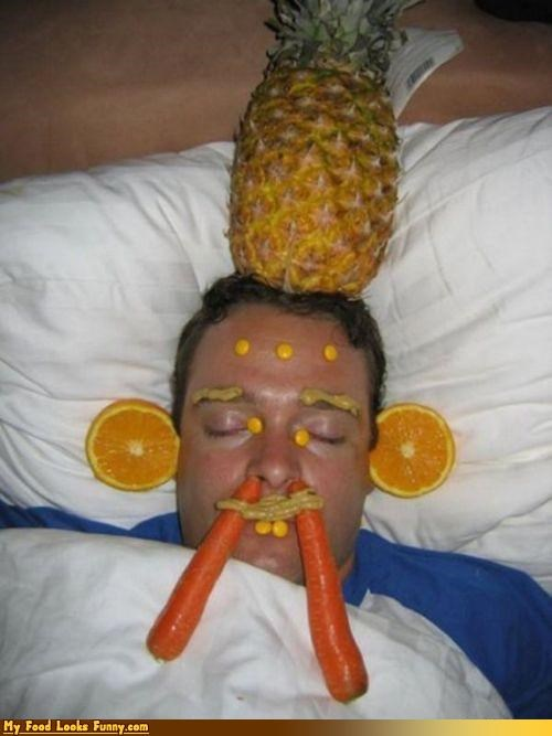 carrots,drunk,face,mms,mustard,oranges,pineapple,sleep,vandalized