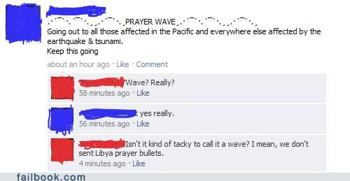 earthquake facepalm insensitivity prayer really Tsunami - 4546006016