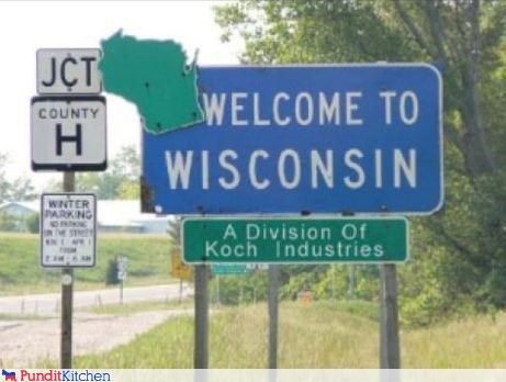 business,david koch,koch industries,signs,wisconsin