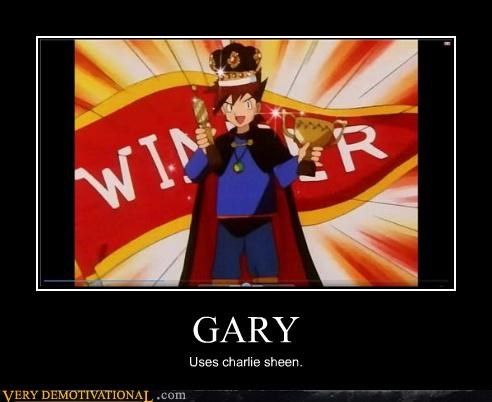 Charlie Sheen gary Pokémon winning