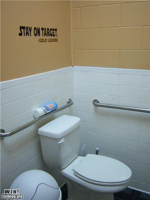 Bathroom Graffiti hacked nerdgasm star wars stencil - 4546370304