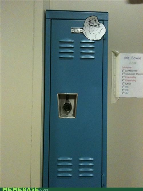 forever alone,locker,single,so lonely,three dog night