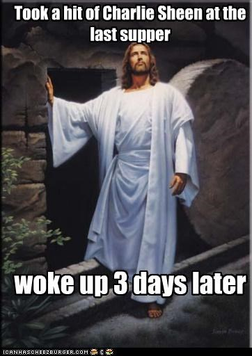 blackout Charlie Sheen jesus last supper three days - 4547100928