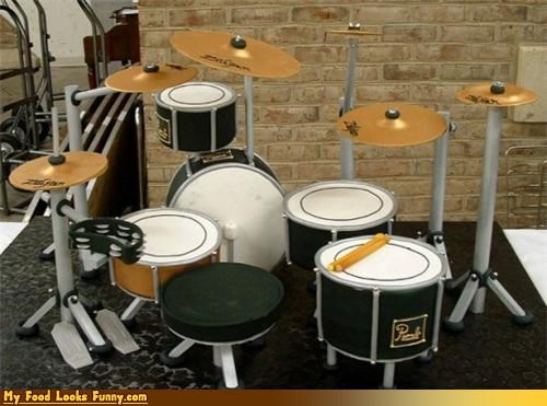 cake complicated drum kit drums fondant sugar - 4547143168