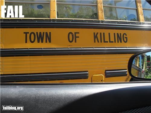 School bus for murderers School bus in Puerto Rico