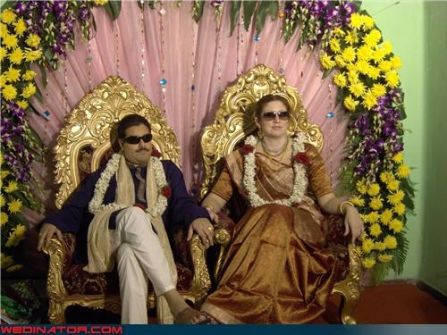 funny wedding photos,Indian wedding,sunglsses,traditional