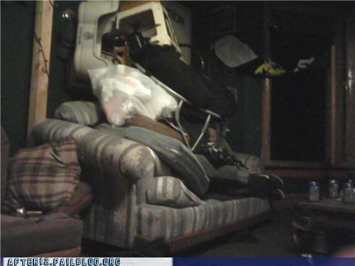 couch drunk garage passed out stacking - 4549491200