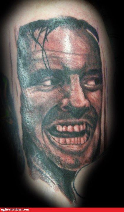jack nicholson,tattoos,funny
