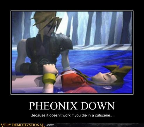 cutscene ff VII pheonix down video games - 4550833408