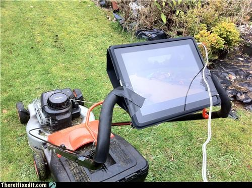 apple chores ipad ipod lawn mower wtf