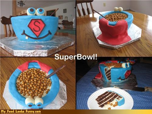bowl cake cape cereal super bowl - 4550964224